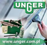 Produkty UNGER do czyszczenia ręcznego okien i innych powierzchni.