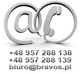 BRAVOS S.C. Ul. Słowiańska 57, 66-400 Gorzów Wlkp. tel +48 957 288 138 biuro@bravos.pl